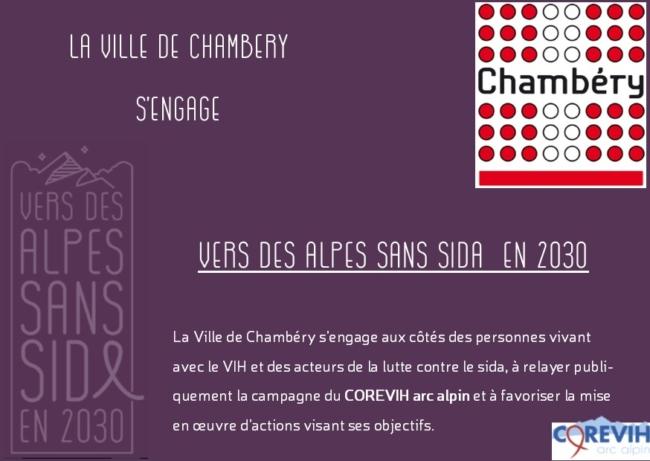 Chambéry s'engage vers des alpes sans sida - corevih arc alpin