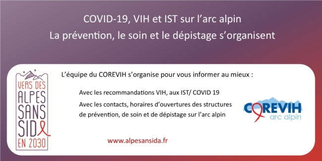 Alpes sans sida : information COVID 19 VIH et IST
